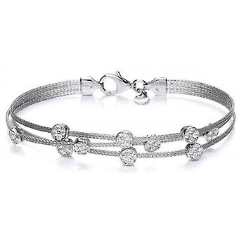 Cavendish French Galaxy Cubic Zirconia Bracelet - Silver