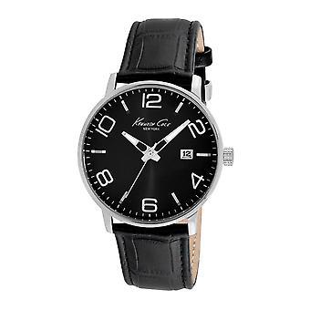 Kenneth Cole New York men's wrist watch analog quartz leather KC8005