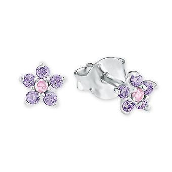 Princess Lillifee children earrings Flower Pink lilac 2021109
