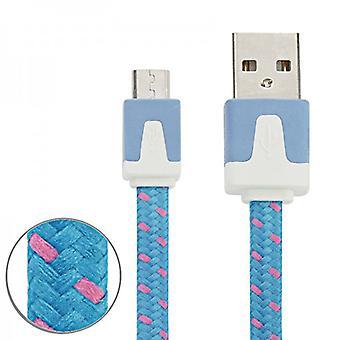 3m danych i ładowarka kabel USB niebieski dla wszystkich smartfonów i tabletów micro USB