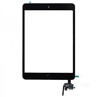 Wyświetlacz dotykowy ekran Strona główna przycisk IC chip dla Apple iPad mini 3 + podkładka czarny