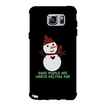 Some People Are Worth Melting For Snowman Black Phone Case