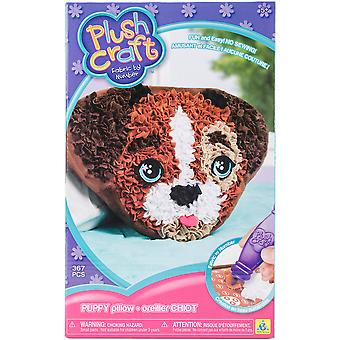 Plushcraft Fabric By Number Kit-Puppy Pillow