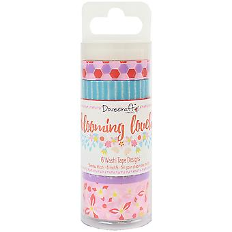 Dovecraft Blooming Lovely Washi Tape 6/Pkg-