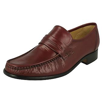 Mens Thomas mocassim sem corte Formal sapatos Clapham 2