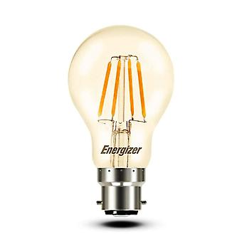 1 X Energizer GLS Globe Antique Gold Finish LED Filament Energy Saving Light Bulb B22 BC Bayonet Cap Fitting [Energy Class A+]