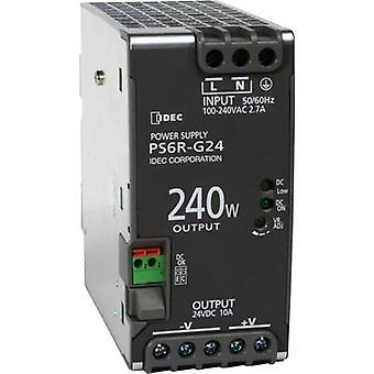 Rail mounted PSU (DIN) Idec PS6R-G24 24 Vdc 10 A 240 W 1 x