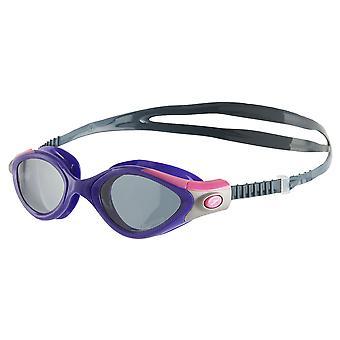 Speedo Futura Biofuse 2 polariseret dame svømme briller - røg linse - lilla/grå
