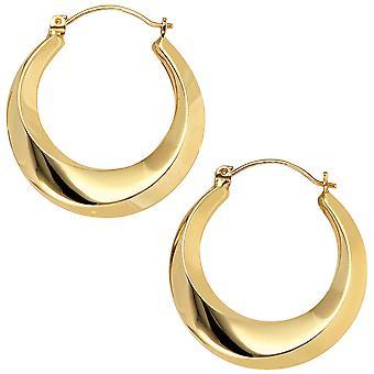 Обручи 333 золото желтое золото Серьги золотые серьги золото золото Хооп Серьги