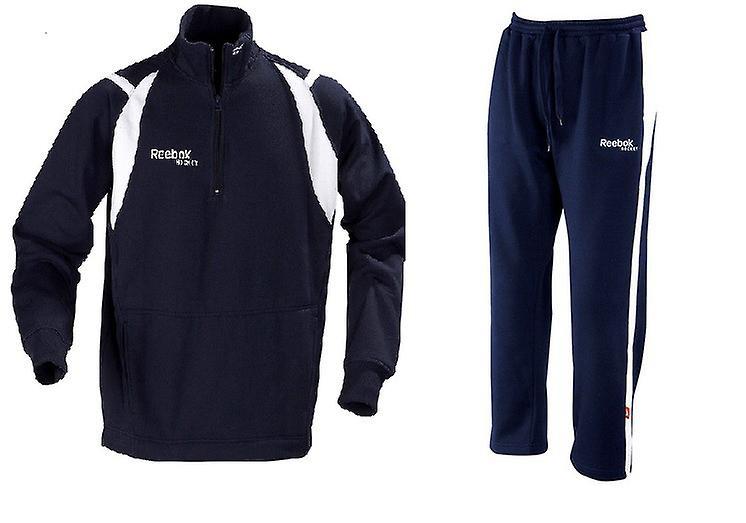 Reebok Sweatsuit Deluxe Zip navy