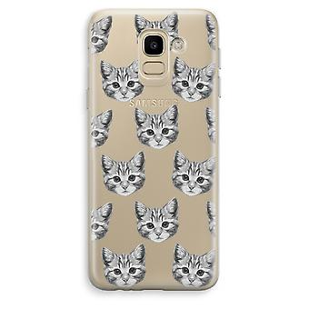 Samsung Galaxy J6 (2018) Transparent Case (Soft) - Kitten