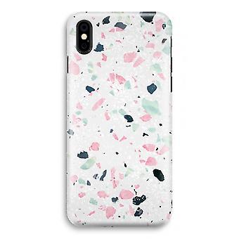 iPhone XS Full Print Case (glanset) - Terrazzo N ° 3