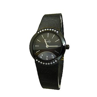 Saphir Ladies Formal Smart Black Watch Stone Unique Different SALE RRP £140 BNIB