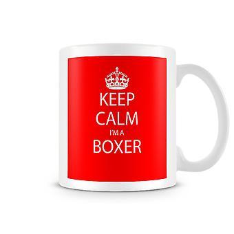 Keep Calm ik ben een bedrukte mok van bokser