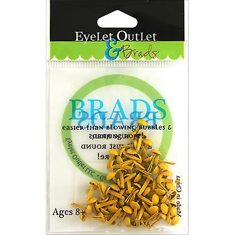 Eyelet Outlet Round Brads 4mm 70/Pkg-Yellow