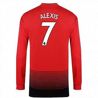 2018-2019 man Utd Adidas Home Shirt met lange mouwen (Alexis 7) - Kids