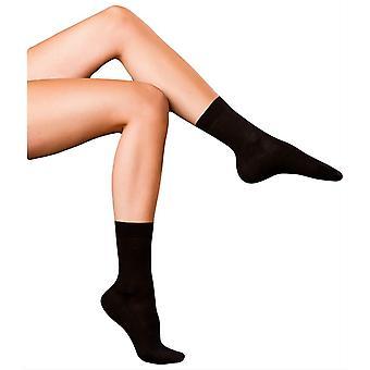 Falke feinste No3 Merino und Seide Socken - schwarz
