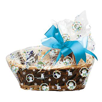 6 Clear The Snowman Cello Basket Bags for Hampers