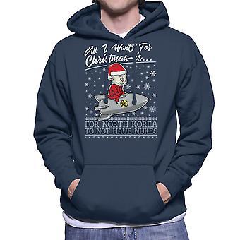 Tutto quello che voglio per Natale è Corea non avere armi nucleari felpa con cappuccio