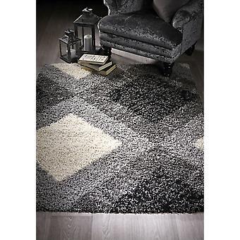 Diamant Shaggy grijze rechthoek tapijten moderne tapijten