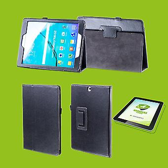 For Apple iPad Pro 11.0 inch 2018 sleeve cover pouch black leather case new art + 0.4 mm hard glass