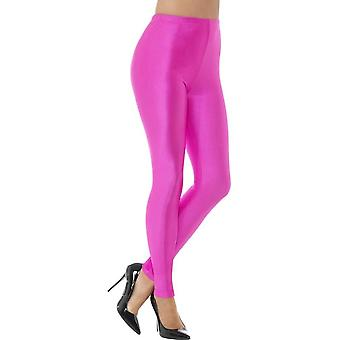 80's Disco Spandex Leggings, Neon Pink