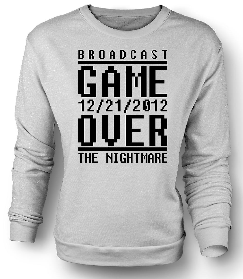 Mens Sweatshirt Game Over 2012 Nightmare - Apocalypse End Days