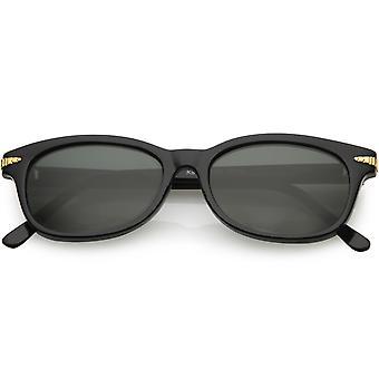 2dce77a9a صحيح القرن بيضاوية صغيرة خمر انعقدت نظارات زجاج عدسة 52 مم