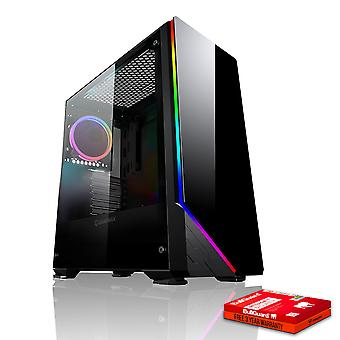 Feroce CYPHER Gaming PC, veloce Intel Core i7 8700 K 4,5 GHz, 1 TB HDD, 8 GB di RAM, GTX 1050 2 GB