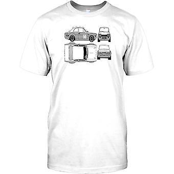 Ford Escort RS1600 - klassieke sportwagen Mens T Shirt