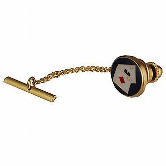 Difficile 14x12mm placcato oro Poker cravatta Tack
