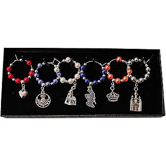 Craftilydunn Wine Glass Charms - Mary Queen of Scots Inspired
