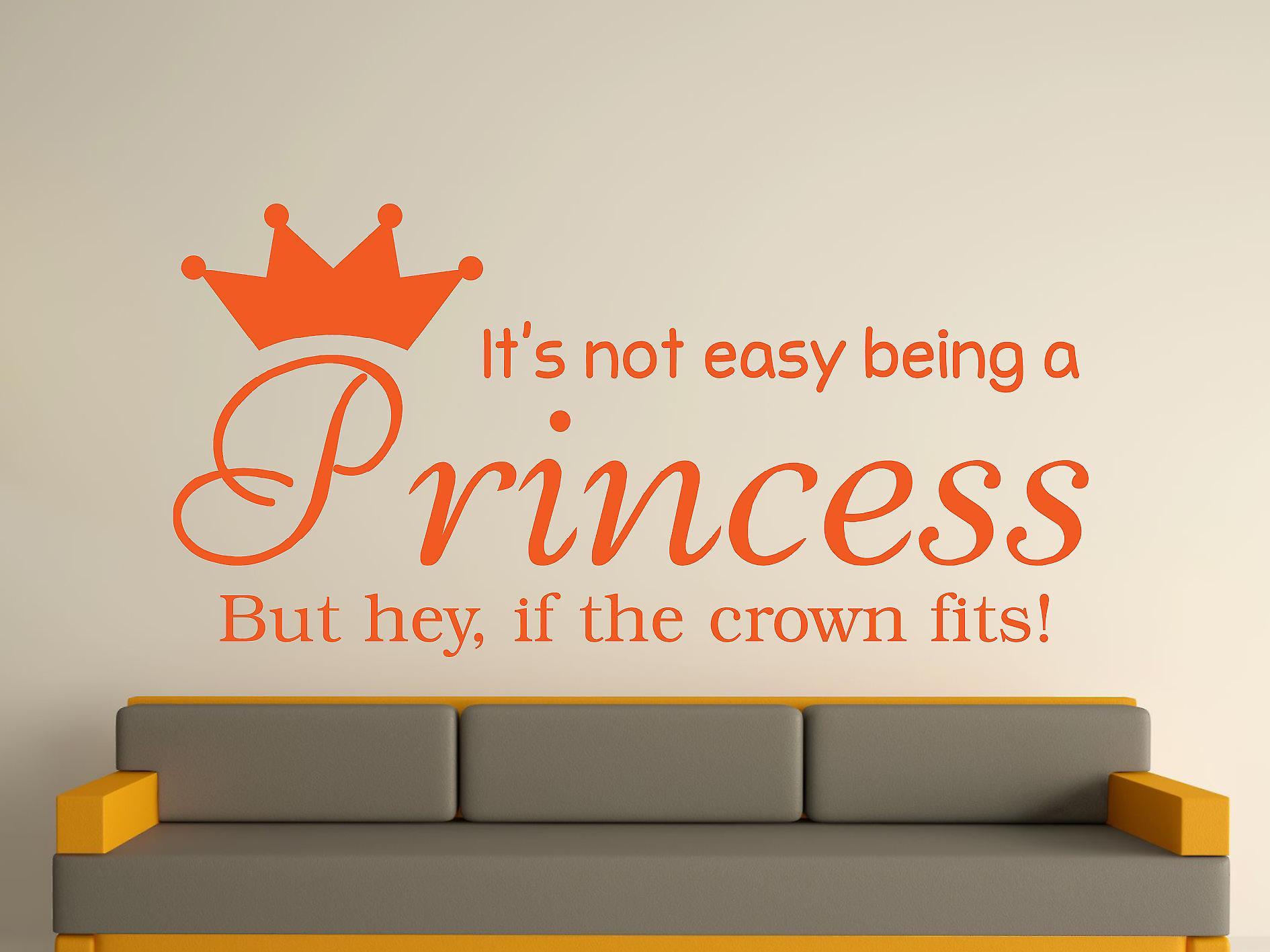 Being A Princess Wall Art Sticker - Orange
