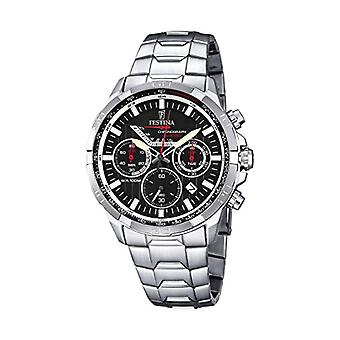 Festina-quartz chronograph stainless steel strap with Display silver-F6836/4