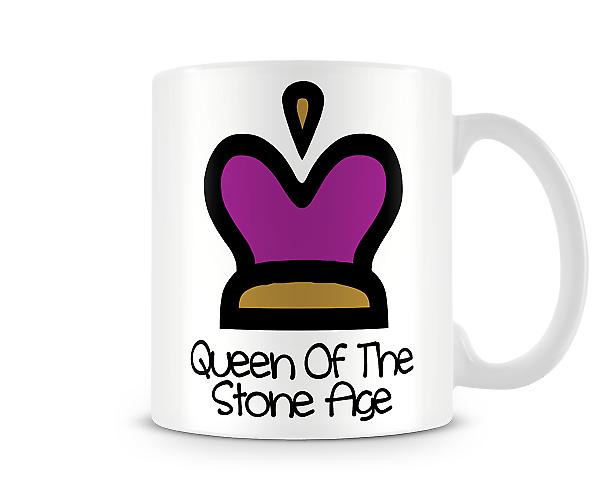 Decorative Writing Cartoon Crown Queen Of The Stone Age Printed Text Mug