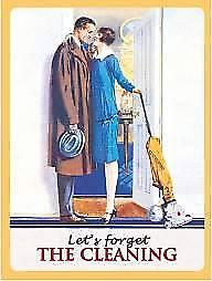 Lets Forget the Cleaning steel funny fridge magnet