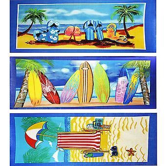 Large Lightweight Microfibre Beach Holiday Bath Towel