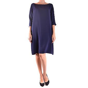 Aspesi blå sidenklänning