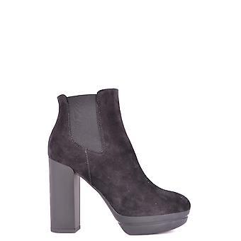Hogan Black Suede Ankle Boots