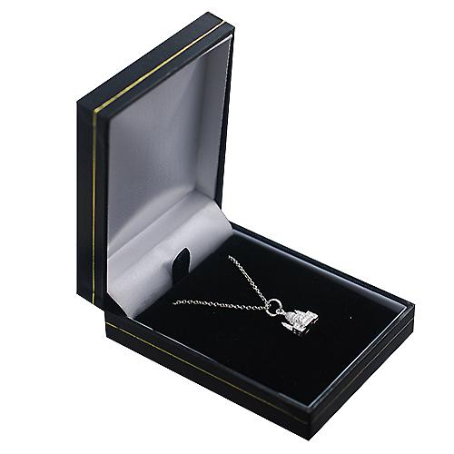 Silver 11x10mm solid St. Paul's Cathedral Pendant with a rolo Chain 16 inches Only Suitable for Children