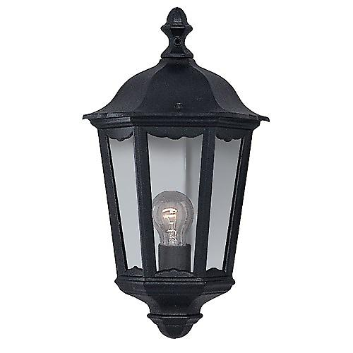 Searchlight 82505BK Alex Traditional Black Half Outdoor Wall Lantern IP44