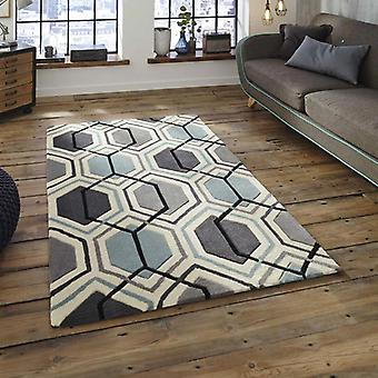 Rugs - Hong Kong Hexagon - HK7526 Grey Blue