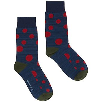 Joules Mens Striking Cotton Blend Contrasting 1 Pack Socks