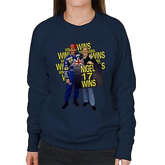 Motorsport Images Nigel Mansell With Stirling Moss At Silverstone 1991 Women's Sweatshirt