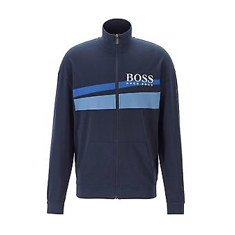 Hugo Boss Casual Hugo Boss Men's Dark Blue Authentic Zip Neck Jacket