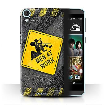 STUFF4 Case/Cover for HTC Desire 820s Dual/Men at Work/Funny Road Signs