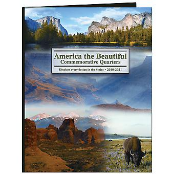 America The Beautiful Commemorative Quarter Color Folder-2010-2021 LCF40D