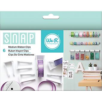 Snap Storage Ribbon Clips 6/Pkg-Medium 662709
