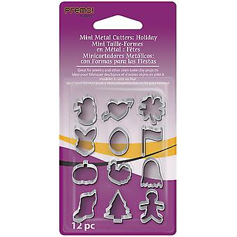 Premo Mini Metal Cutters 12 Pkg Holiday Amm Chl
