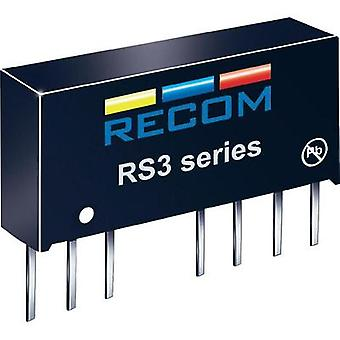 RS3 RECOM-243.3S RS3-243.3S 3W DC/DC convertidor RS3-243.3S 18-36 Vdc 3.3 Vdc 600 mA 3 W